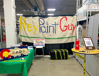 Hey Paint Guy booth at job fair