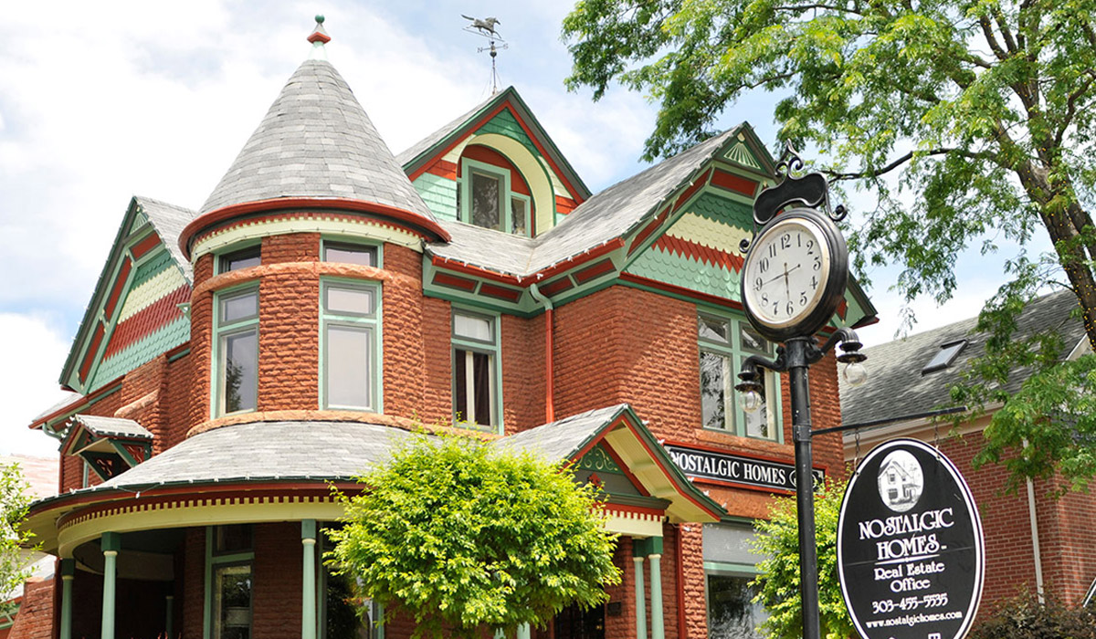 Brick Victorian House with Colorful Accents